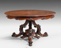 Victorian Period Mahogany Centre Table (2 of 5)