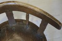Scandinavian / Swedish 'Folk Art' Blekinge chair, three-legged, curved back & circular seat c.1850 (27 of 31)