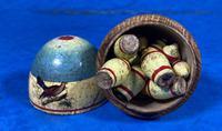 19th Century Skittles Game in Tunbridge Ware White Wood Painted Egg (18 of 21)