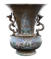 Chinese Bronze Champleve Vase (6 of 7)