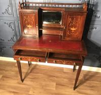 Edwardian Inlaid Rosewood Desk (11 of 23)