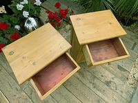 Two 'will split' Lovely & Matching Bedside Cabinets / Cupboards (4 of 8)