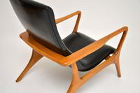 Pair of Vintage Leather Armchairs in the Manner of Vladimir Kagan (12 of 15)