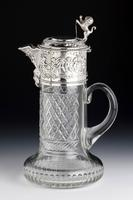 Attractive Early 20th Century Silver Topped Claret Jug (2 of 8)