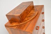 Art Deco Figured Walnut Chest of Drawers (10 of 12)