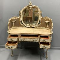 Grand Scale Italian Painted Dressing Table (4 of 8)