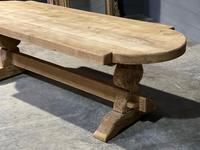 Large Rustic French Bleached Oak Farmhouse Dining Table (28 of 40)