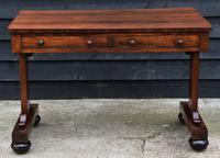 Superb Quality Regency Rosewood Library Table / Desk / Hall Table (2 of 7)