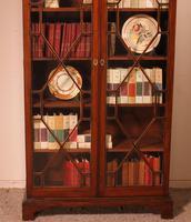 Georgian Glassed Bookcase in Mahogany & Inlays - 18th Century English (5 of 14)