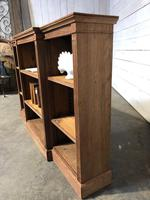Oak Breakfront Open Bookcase (9 of 20)