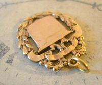 Antique Pocket Watch Chain Fob 1890s Victorian Brass Patented Fancy Shield Fob (3 of 7)