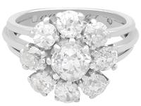 3.05 ct Diamond and Palladium Cluster Ring - Antique and Vintage (4 of 9)