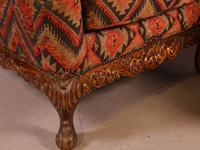 Very Good Pair of Wing Armchairs in the style of George II (6 of 15)