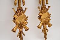 Antique Italian Giltwood Mirror Set (5 of 12)