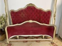 Antique French Demi Corbeille Chesterfield Style Double Bed Frame (12 of 13)