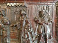 A 19thc Mahogany Carved Relief Panel Depicting Tudor Interior Scene (3 of 7)