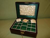 Brass Bound Rosewood Jewellery Box. Plush Interior c.1860 (5 of 11)