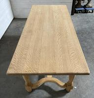 Nice Bleached Oak Farmhouse Dining Table (18 of 19)