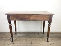 Victorian Mahogany Two Drawer Side Table (9 of 9)