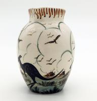Guy Boyd : Australian Art Studio Pottery Jug Aboriginal & Kangaroo C.1950 (2 of 6)