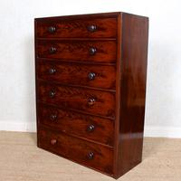 Cuban Mahogany Chest of Drawers 19th Century Tallboy (2 of 12)