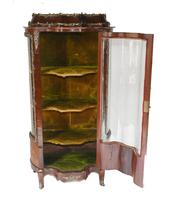 Antique Display Cabinet French Louis XVI Inlaid Bijouterie (8 of 10)