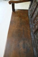 Antique Carved Oak Bench (7 of 12)
