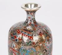 Oriental, Chinese / Japanese Exceptional Silver Metal Cloisonne Vase (18 of 25)