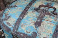 Scandinavian / Swedish 'Folk Art' Travel chest in blue paint and ironwork, 18th Century (37 of 37)