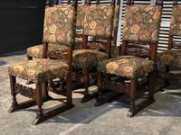 Set of 8 French Oak Dining Chairs (16 of 18)
