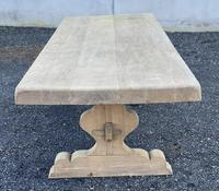 Huge French Bleached Oak Farmhouse Dining Table (15 of 34)