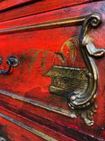 Antique Lacquered Chinoiserie Chest of Drawers (9 of 11)