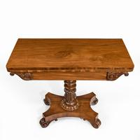 Companion Pair of William IV Flame Mahogany Card Tables (11 of 13)