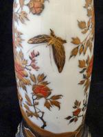 Excellent Japanese Meiji Period Lacquer on Porcelain Vase- Converted to a Lamp (7 of 7)