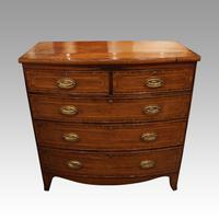 Regency Inlaid Bow Fronted Chest