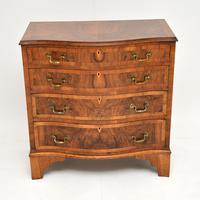 Antique Figured Walnut Serpentine Chest of Drawers (8 of 10)