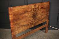 Art Deco Walnut Standard Double Bed (9 of 11)
