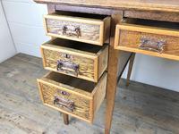 Edwardian Antique Oak Kneehole Desk (6 of 13)