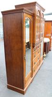 1900's Large Well Fitted Burr Walnut Compactum Wardrobe (6 of 7)