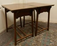 Pair of Arts & Crafts Elm Tables (8 of 8)