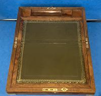 Victorian Brassbound Figured Walnut Writing Slope (16 of 18)