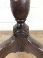 Early 19th Century Antique Oak Pillar Table (4 of 7)