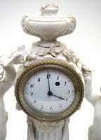 French Empire Figural Mantel Clock – Bisque Porcelain Cherub Verge Mantle Clock c.1800 (8 of 13)