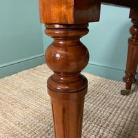 Small Quality Mahogany Antique Victorian Extending Dining Table (9 of 9)