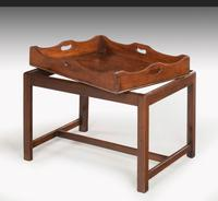 George III Period Mahogany Tray with a Shaped and Swept Border (2 of 5)