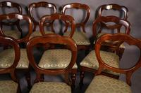 Good Set of 12 Victorian Balloon Back Dining Chairs (3 of 11)