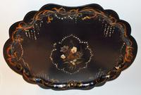 Large Victorian Papier Mache Tray (4 of 6)