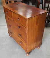 1900's Mahogany Square Front Chest Drawers with Wooden Knobs (3 of 4)