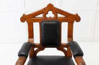 Late 19th Century Pair of Gothic Oak Armchairs (4 of 10)
