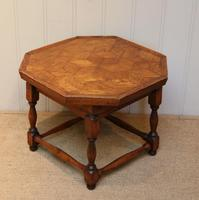Small Oak Parquetry Top Table (7 of 10)